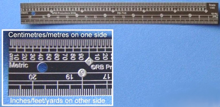1/48 Scale Stainless Steel Ruler