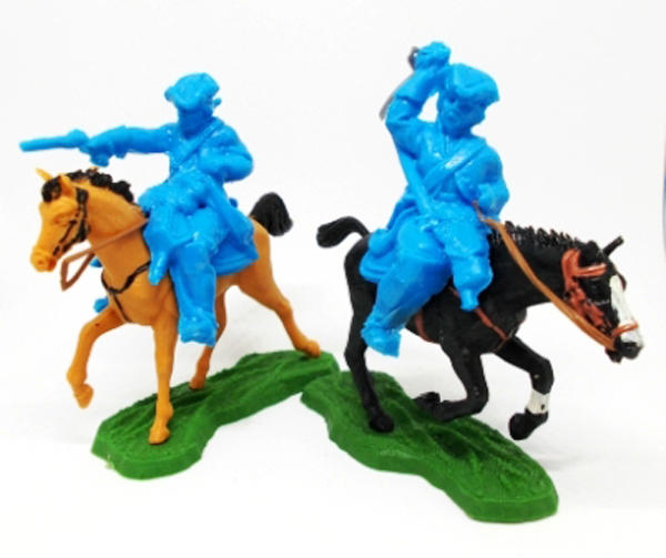 British Mounted Dragoons in Blue