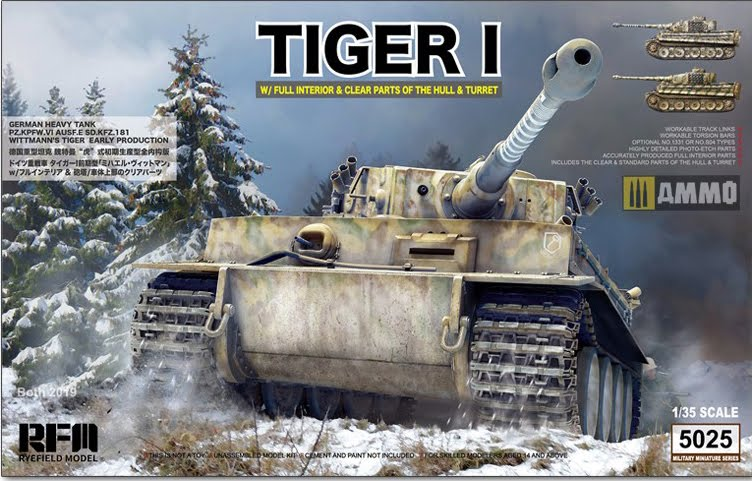 WWII German Tiger Early Production w/ Full Interior & Clear Parts & Workable Track Links