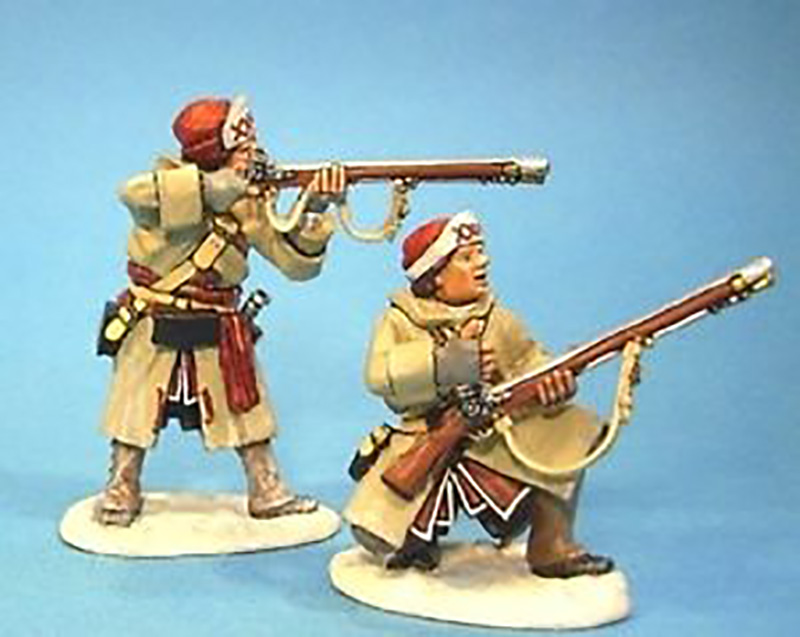 BATTLE ON SNOWSHOES 1758 - BRITISH OFFICERS SKIRMISHING #SB-03 - 1 AVAILABLE OOP
