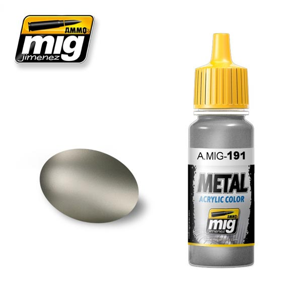 Steel Acrylic Metallic Paint 17ml