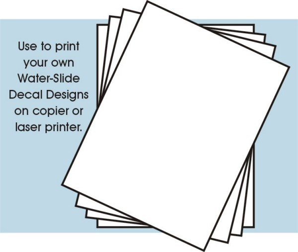 8-1/2x11 Clear Decal Paper (4/pk)