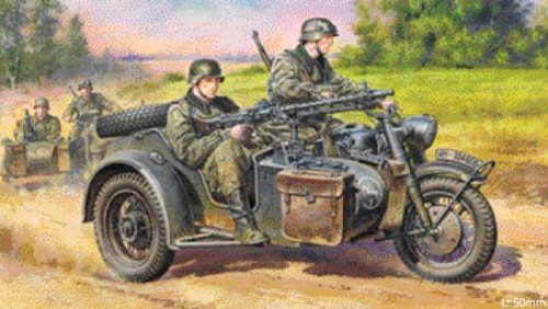 German Motorcycle w/Sidecar