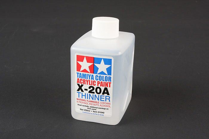 Acrylic Poly Thinner X-20A 250ml Bottle
