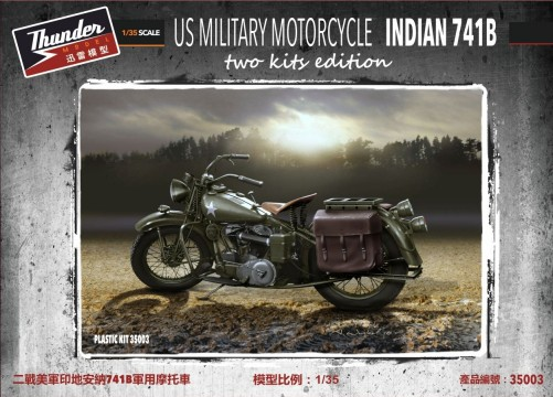 WWII US Military Indian 741B Motorcycle