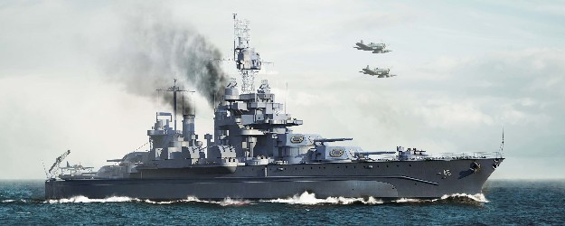 USS Maryland BB46 Battleship 1945 (New Variant)