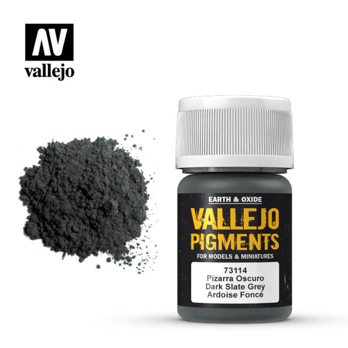 Pigments- Dark Slate Grey for Faded Armor and Panzer Grey, Industrial Dust