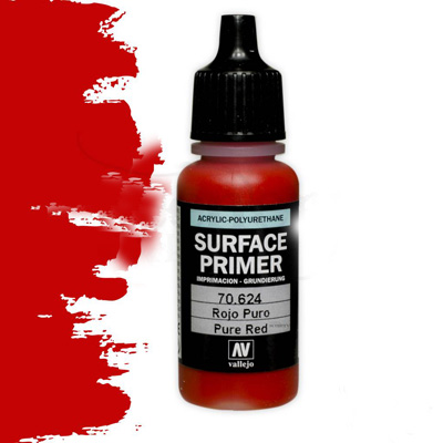 Vallejo Surface Primers: Pure Red 17ml Bottle