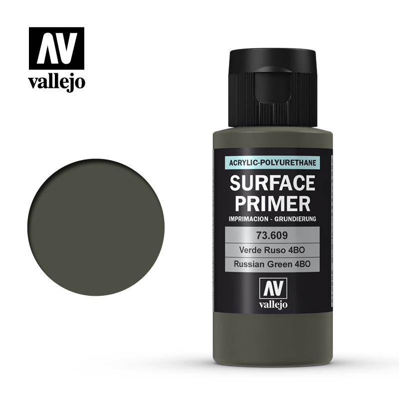 Vallejo Surface Primers: Russian Green 4BO 200ml Bottle