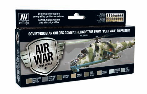 Model Air Soviet/Russian Colors Combat Helicopter from Cold War to Present Paint Set (8 Colors)