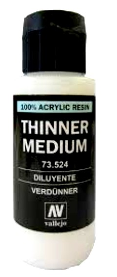 Vallejo Thinner Medium 60ml. Bottle