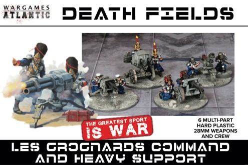 Death Fields Les Grognard Command & Heavy Support w/Weapons (12) & Heavy Guns (6)
