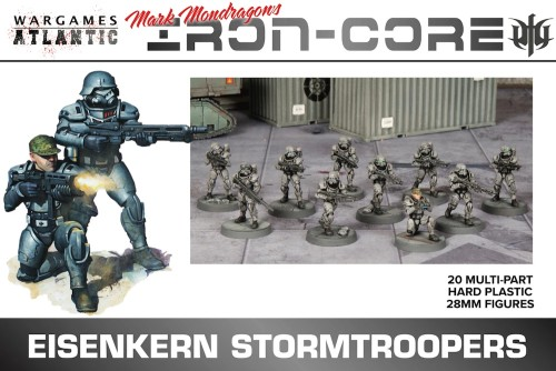 28mm Iron Core Eisenkern Stormtroopers w/Weapons (20)