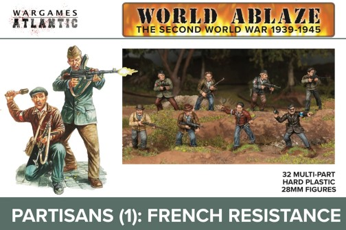 World Ablaze WWII 1939-45 Partisans 1 French Resistance w/Weapons (32)