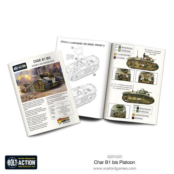 Michigan Toy Soldier Company : Warlord Games - Char B1 Bis